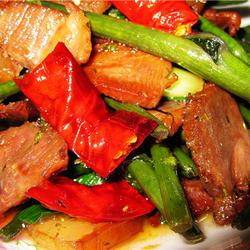 红菜苔炒腊肉的做法[图]