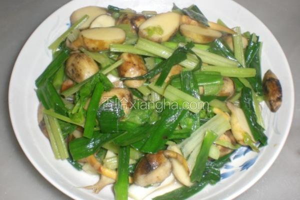 蒜苗芹菜炒慈菇