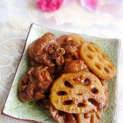 莲藕烧鸭肉的做法[图]