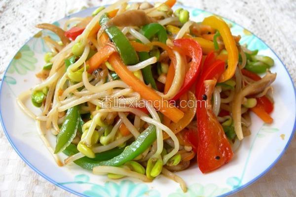 五花黄豆芽菜