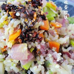 杂疏炒黑白米饭的做法[图]