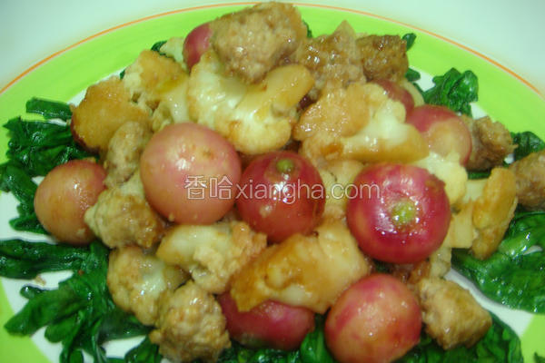 肉丸子菜花