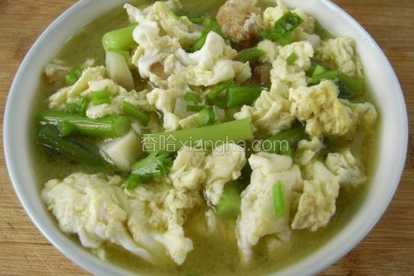 鸡蛋海米炖蒜薹