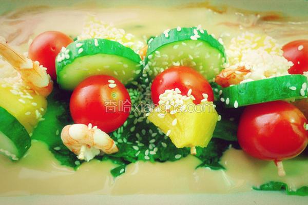 蔬果鲜虾沙律