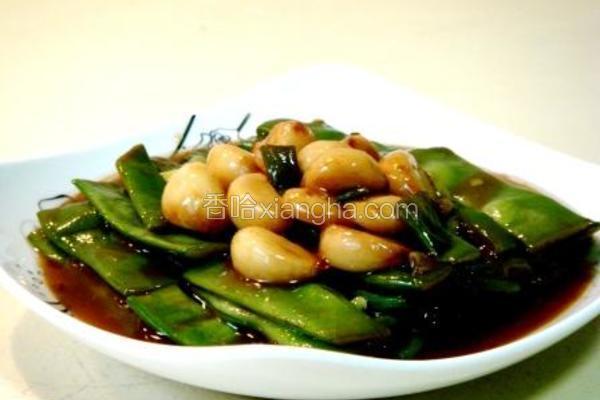 鱼露金蒜焖扁豆
