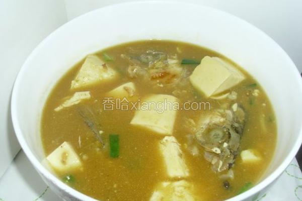 咖喱鱼头豆腐汤