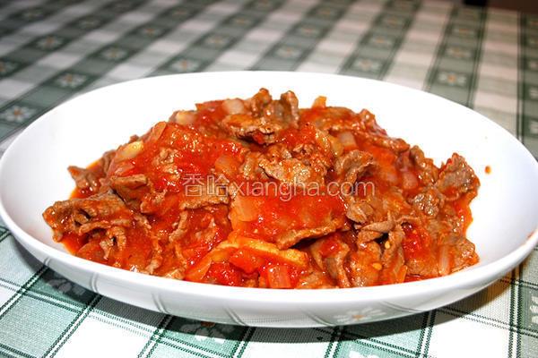 番茄酱煮牛肉
