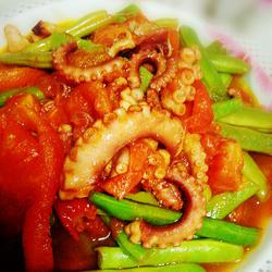 茄汁鱿鱼四季豆的做法[图]