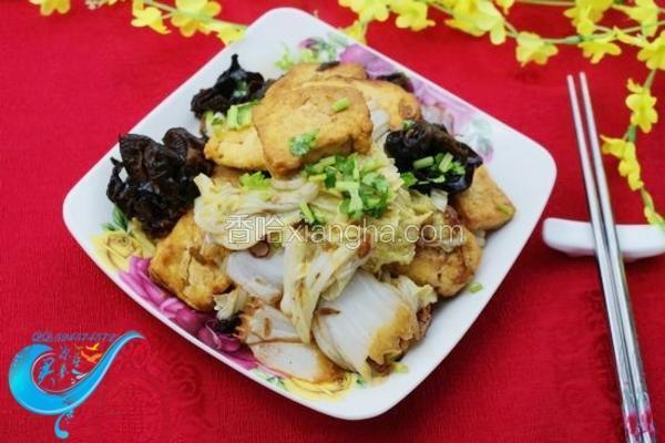 白菜虾皮豆腐