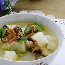 淡菜萝卜瘦肉汤的做法[图]