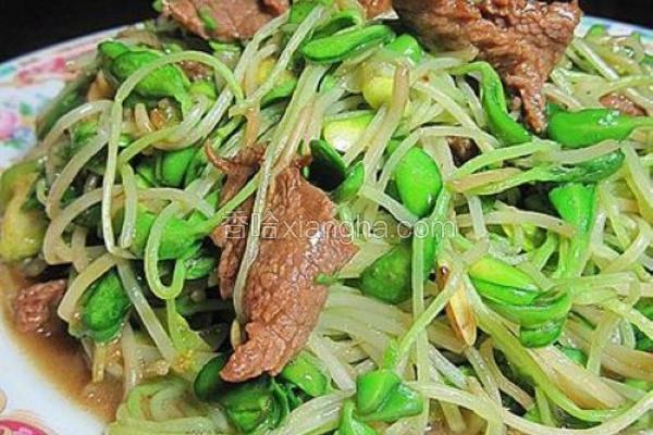 黑豆芽炒牛肉