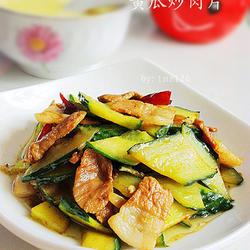 黄瓜炒肉片的做法[图]