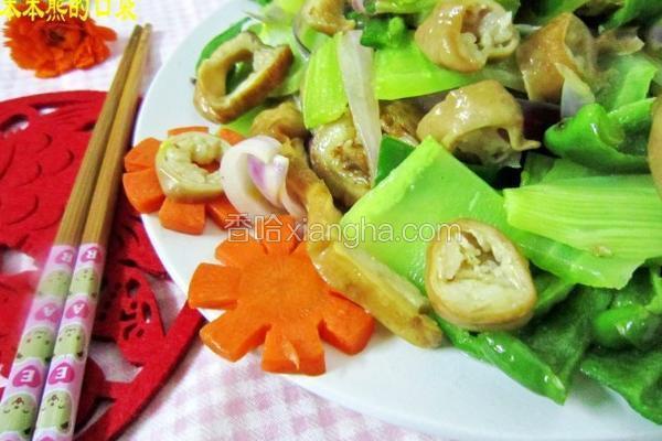 杂蔬炒肥肠