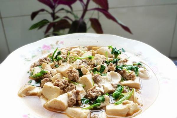 香菜肉末豆腐