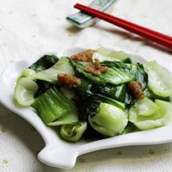猪油渣炒青菜的做法[图]