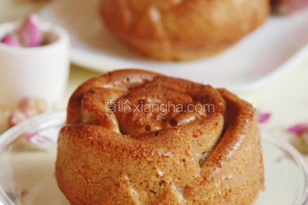 玫瑰造型香蕉蛋糕