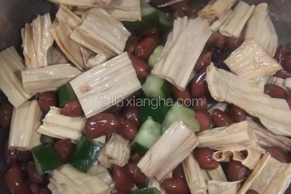 花生米拌腐竹