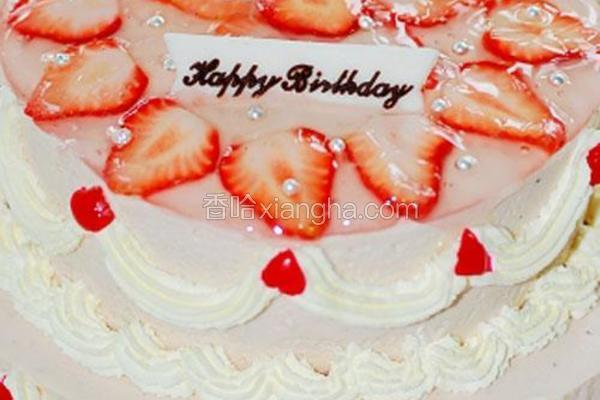 双层草莓芝士蛋糕