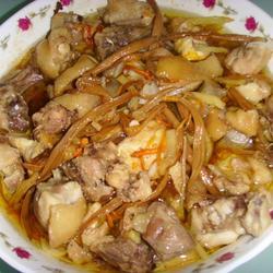 金针菜蒸鸡的做法[图]