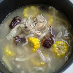 玉米平菇炖鸡腿的做法[图]