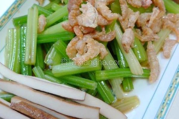 海米香芹拌豆干