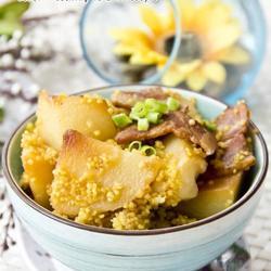 培根土豆焖小米的做法[图]