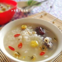 红枣薏仁菊花粥的做法[图]