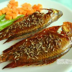 孜然烤罗非鱼的做法[图]