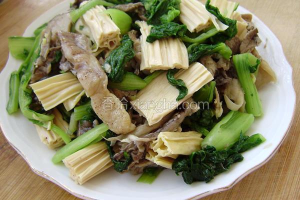 腐竹鲜蘑烧白菜