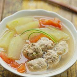 冬瓜番茄肉丸湯的做法[圖]