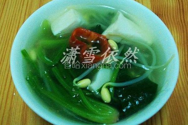 菠菜豆芽汤