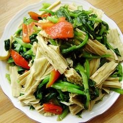 腐竹烧油菜的做法[图]