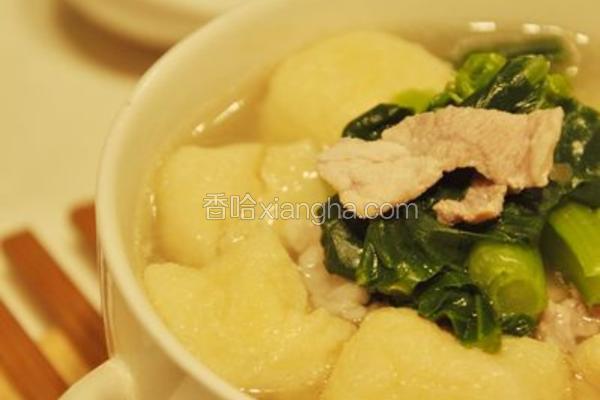 小蔬肉片汤