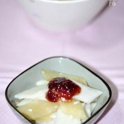 酒酿雪莲果山药的做法[图]
