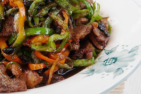 豆豉双椒炒鹅肉