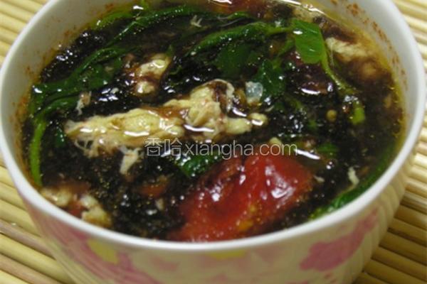 蕃茄紫菜蛋汤