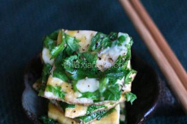 香芹叶鸡蛋饼