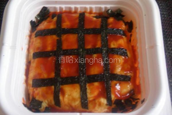 紫菜鱼茸蛋包饭