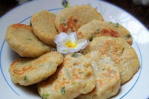 葱香椒盐豆渣饼