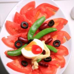 西红柿甜蜜腰豆沙拉的做法[图]