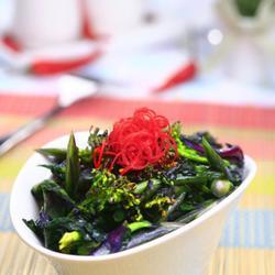 清炒紫菜心的做法[图]
