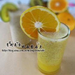 甜橙猕猴桃奶昔的做法[图]