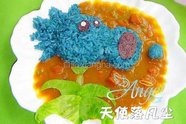 雪花豌豆咖喱饭