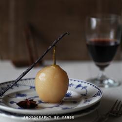 香草糖浆洋梨的做法[图]