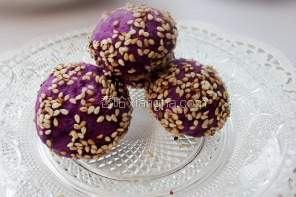紫薯果仁球