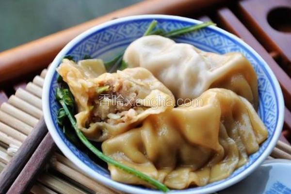 干贝苞菜猪肉饺子
