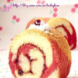红曲斑马纹蛋糕卷的做法[图]