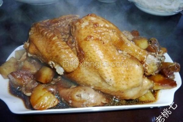 无水土豆五谷炖鸡