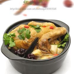 紫灵芝炖鸡的做法[图]