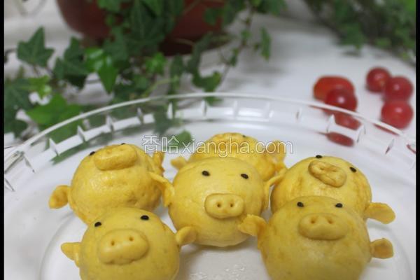 豆沙馅黄金小猪猪